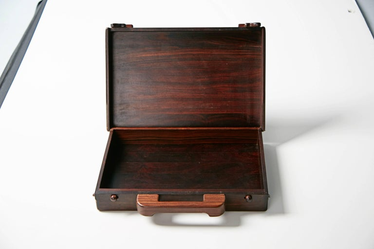 Mexican Don Shoemaker Exotic Wood Inlaid Decorative Briefcase for Señal, circa 1970 For Sale