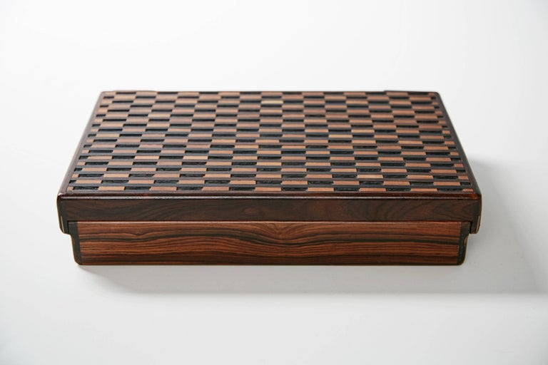 Don Shoemaker Exotic Wood Inlaid Decorative Briefcase for Señal, circa 1970 For Sale 3