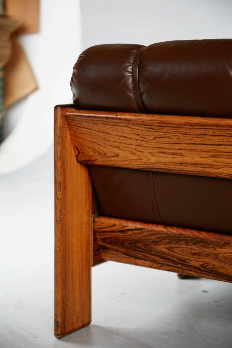 Tufted Leather Loveseat By Kalustekiila Finland Circa