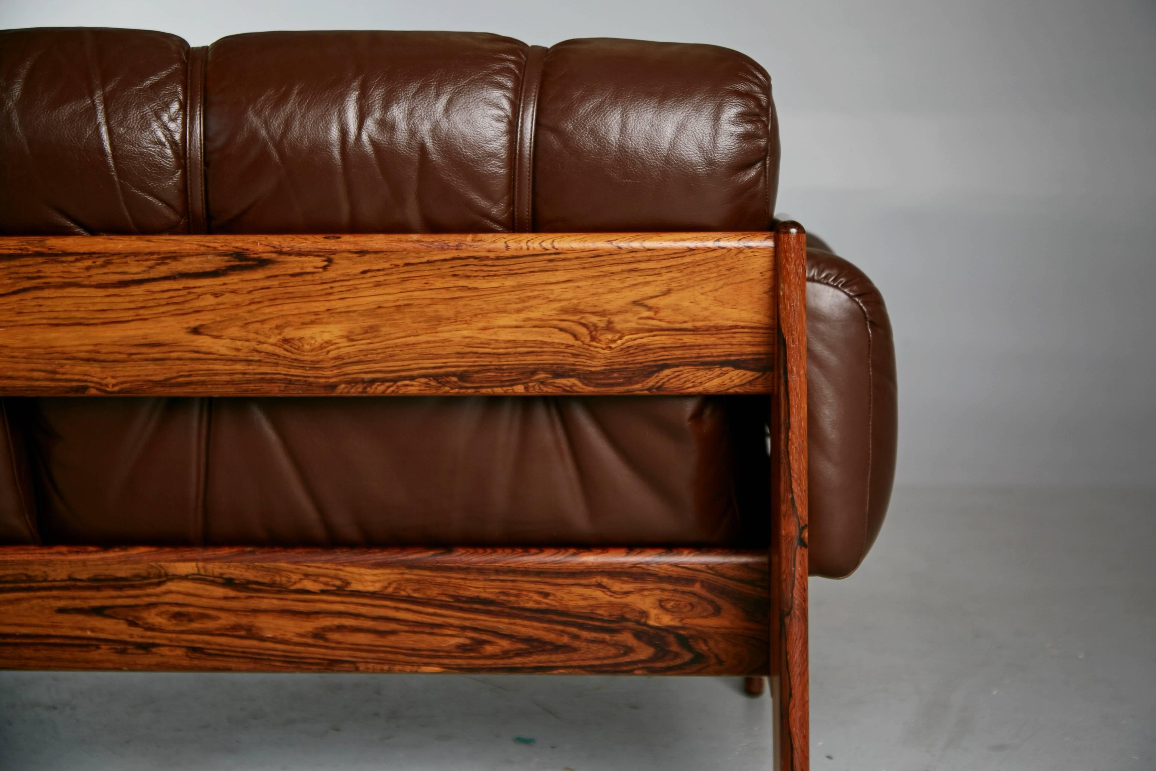 Tufted Leather Loveseat By Kalustekiila Finland Circa 1950 At 1stdibs