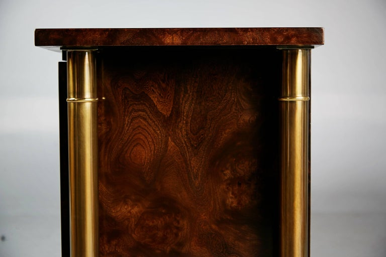 Mastercraft Burled Wood and Brass Credenza by William Doezema, circa 1960 For Sale 2