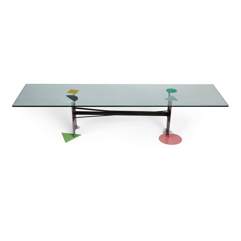 Post Modern Coffee Tables: Peter Shire Memphis Post-Modern Coffee Table Produced In