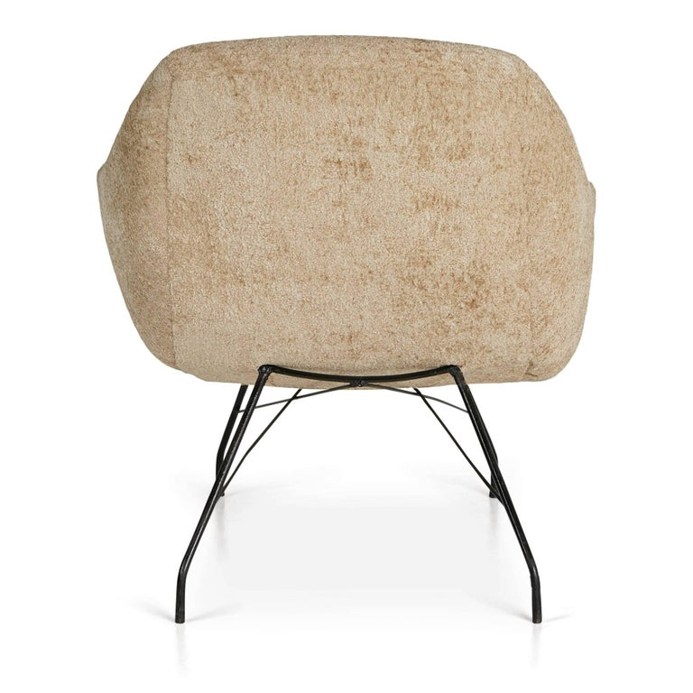 Painted Martin Eisler and Carlo Hauner Scoop Chair for Forma, Brazil, circa 1960 For Sale