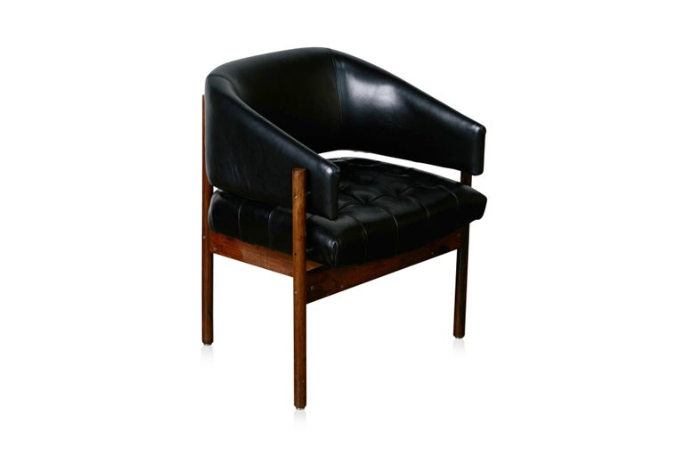Mid-Century Modern Original Jorge Zalszupin Rosewood & Leather Armchairs, Produced in 1972, Brazil For Sale