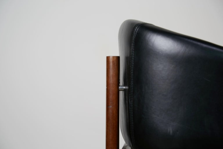 Original Jorge Zalszupin Rosewood & Leather Armchairs, Produced in 1972, Brazil For Sale 9