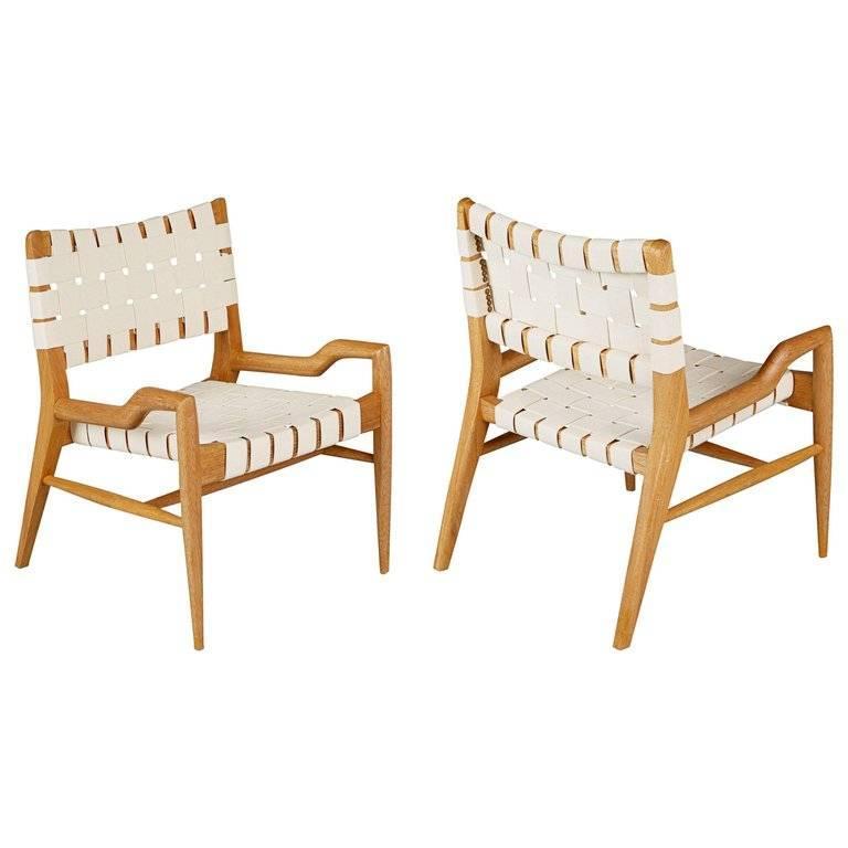 Pair of John Keal for Brown Saltman Sculptural Lounge Chairs, circa 1954 For Sale