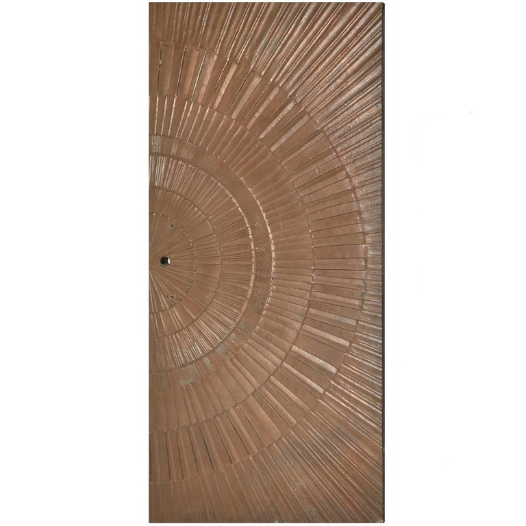 Poured Bronze Sunburst Door by Sherrill Broudy for Forms and Surfaces, 1960s For Sale