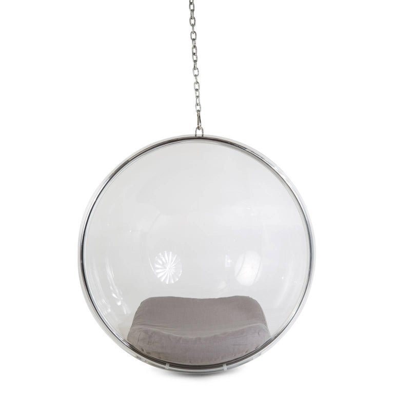Finnish Eero Aarnio for Adelta Lucite Hanging Bubble Chair For Sale