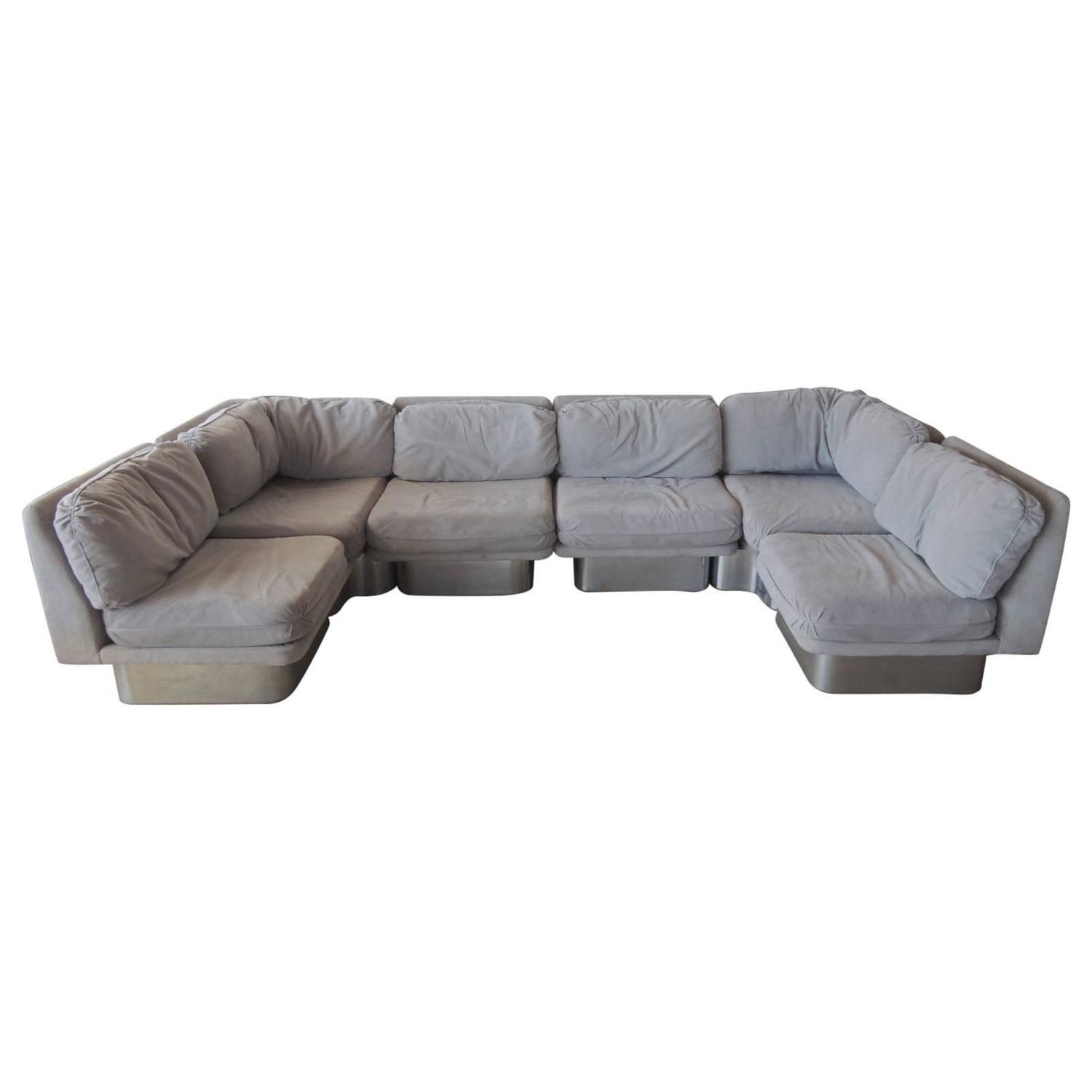Black Friday Sectional Sofa By Milo Baughman For Thayer