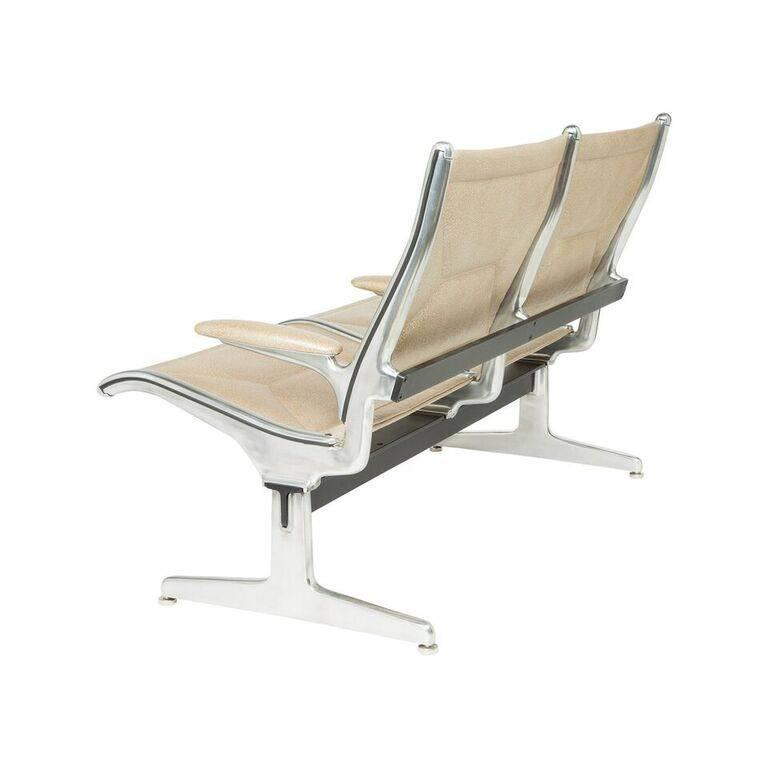 Mid-Century Modern Eames for Herman Miller Two-Seat Tandem Sling Airport Chair For Sale