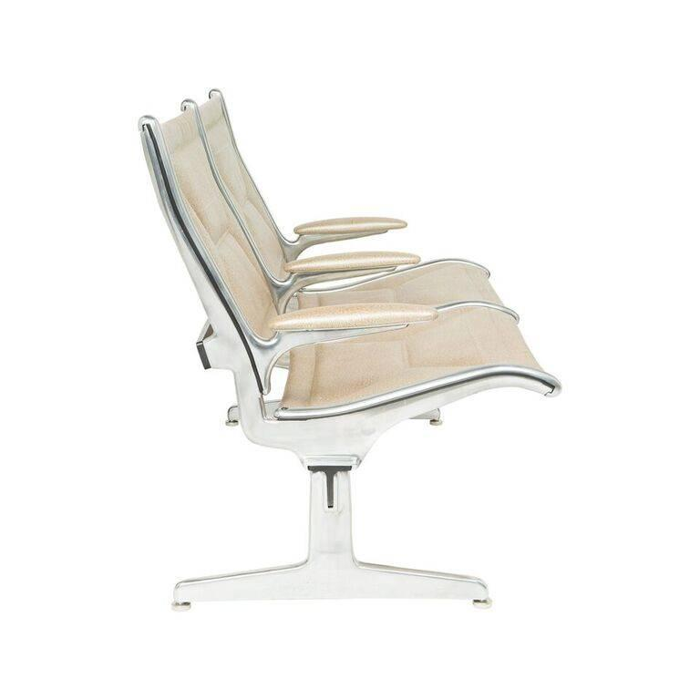 Ray & Charles Eames were commissioned to design the perfect utilitarian seating for the first international airports in 1962. Created for comfort and convenience, this chair is iconic and has never before been redone with such luxury in mind.  We