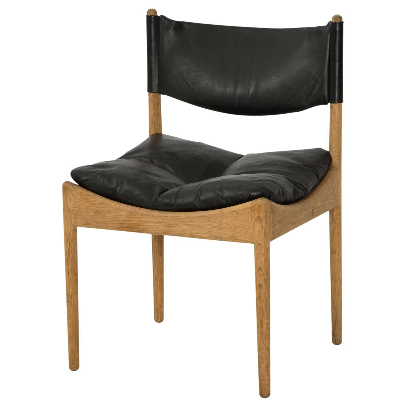 ON SALE Oak And Leather 39 Modus 39 Dining Chairs By Kristian Solmer Ve