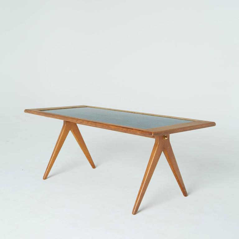 Swedish Stig Lindberg and David Rosen for Nordiska Kompaniet Enamel Coffee Table, 1955 For Sale