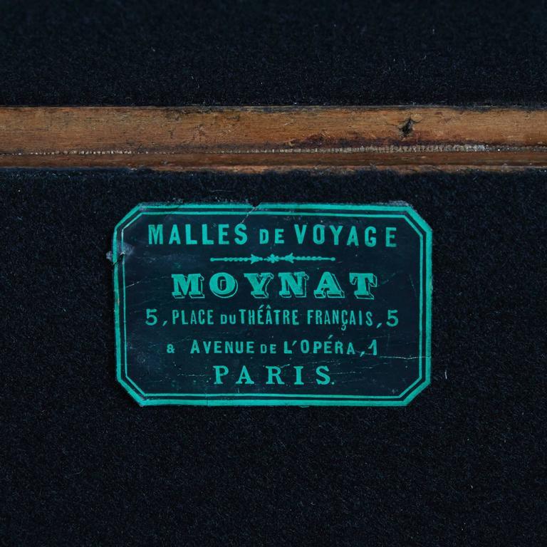 Brass Moynat Steamer Trunk, Restored, France circa 1920s For Sale