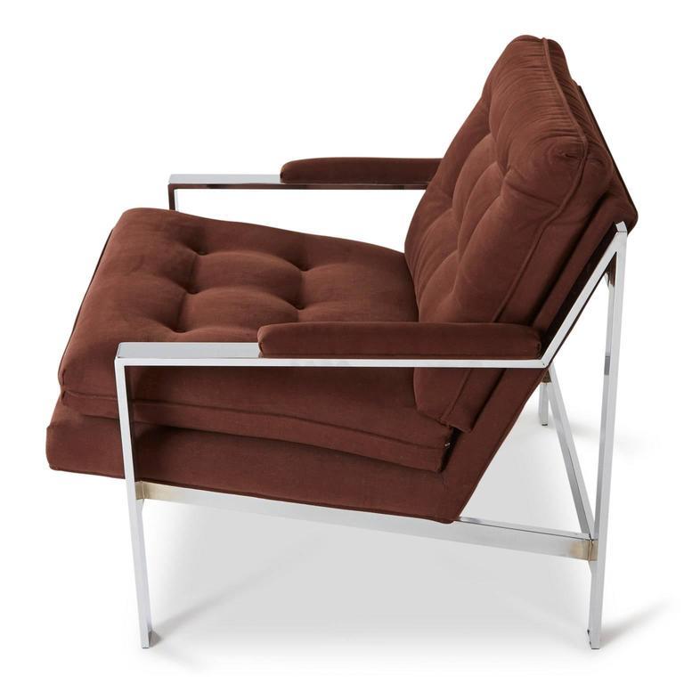 Mid-Century Modern Cy Mann Chrome Lounge Chair for Cy Mann Designs Ltd, circa 1970s For Sale