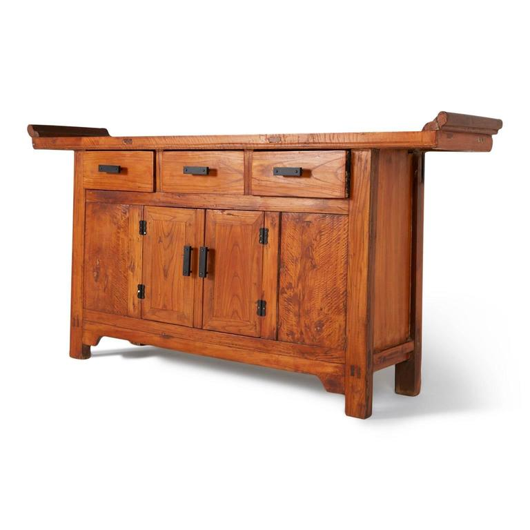 Asian style camphor alter cabinet or console circa 1960 for Asian console cabinet