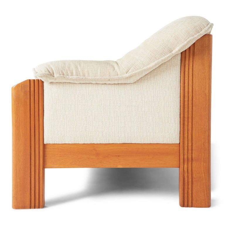 J E Ekornes Norwegian Teak Frame Three Seat Sofa Circa