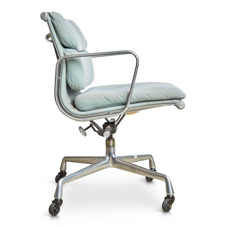 Mid Century Modern Pair Of Charles Eames For Herman Miller Soft Pad Task  Chairs,