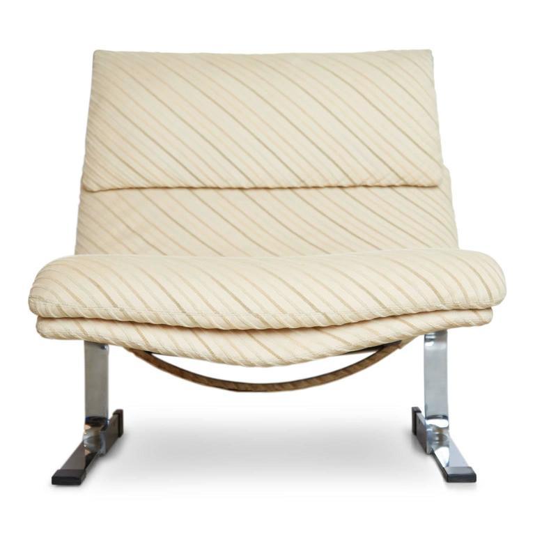 Onda Chair and Ottoman in Missoni Fabric by Giovanni Offredi for Saporiti  Italia 2