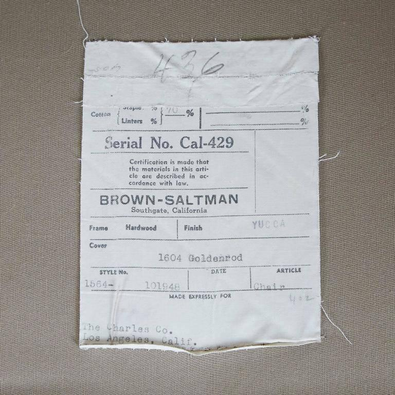 Paul Laszlo Armchair and Ottoman for Brown Saltman, circa 1970 7