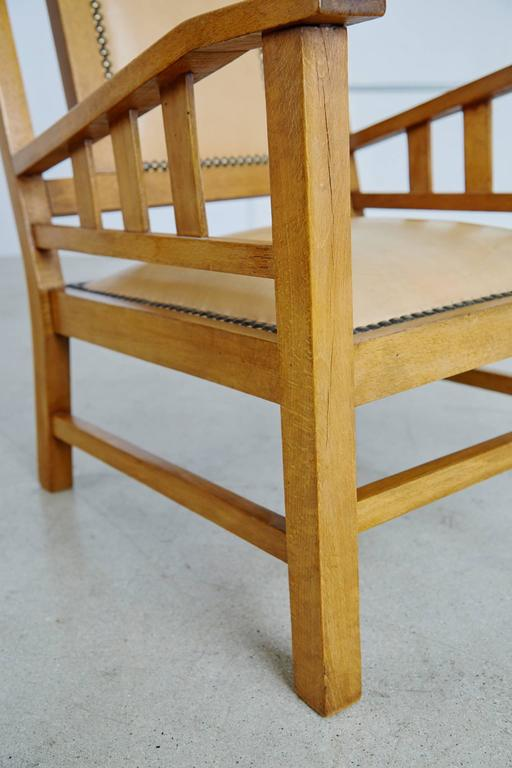 Beech Francis Jourdain French Art Deco Modernist Pair of Armchairs, circa 1920 For Sale