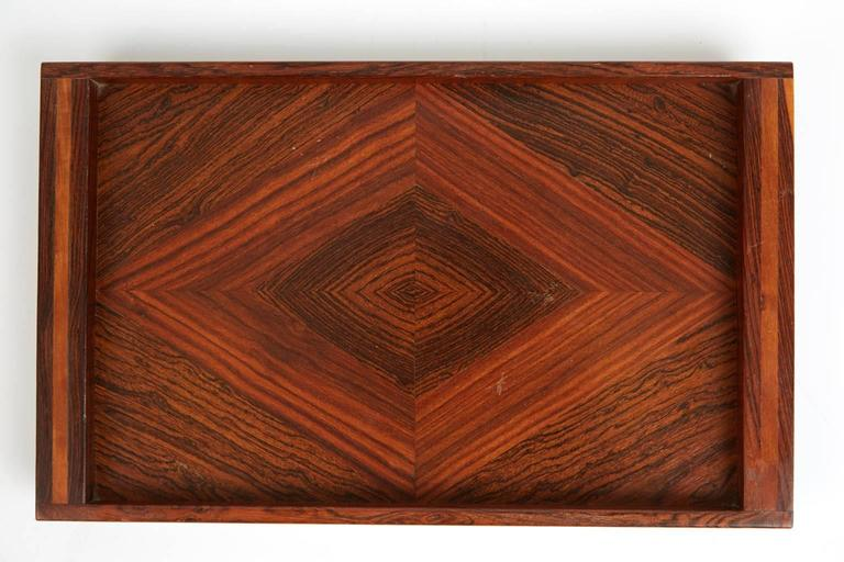Don Shoemaker Cocobolo, Rosewood Inlaid Trays for Señal, circa 1970 For Sale 1