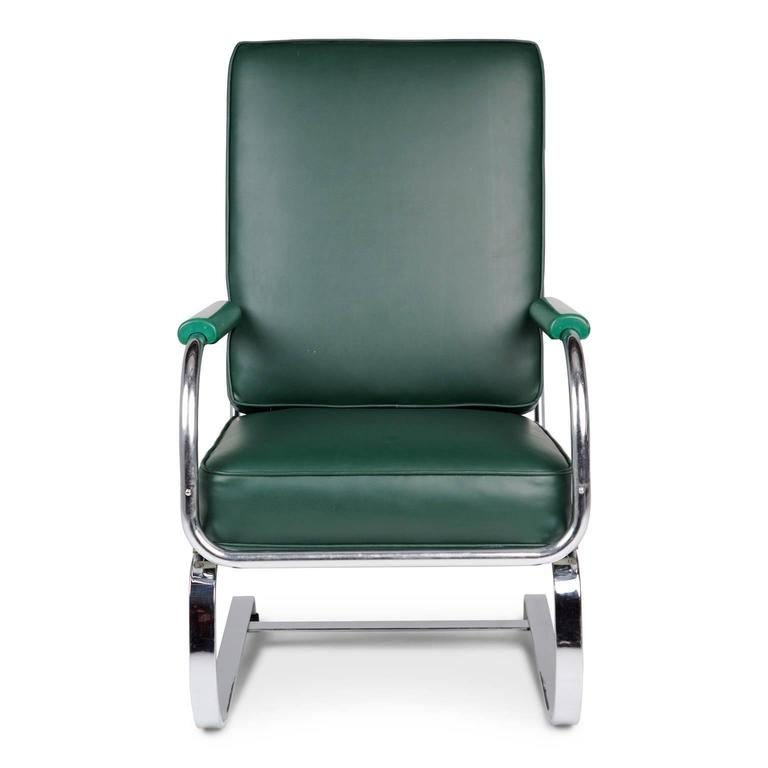 Kem Weber Cantilever Springer Armchair For Lloyd Circa