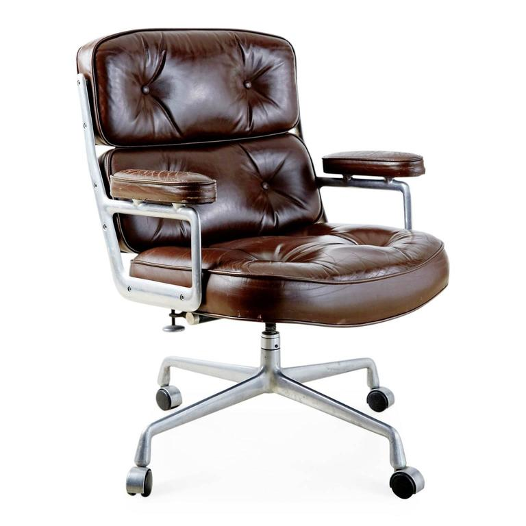 Brown Leather Time Life Executive Desk Chair By Charles