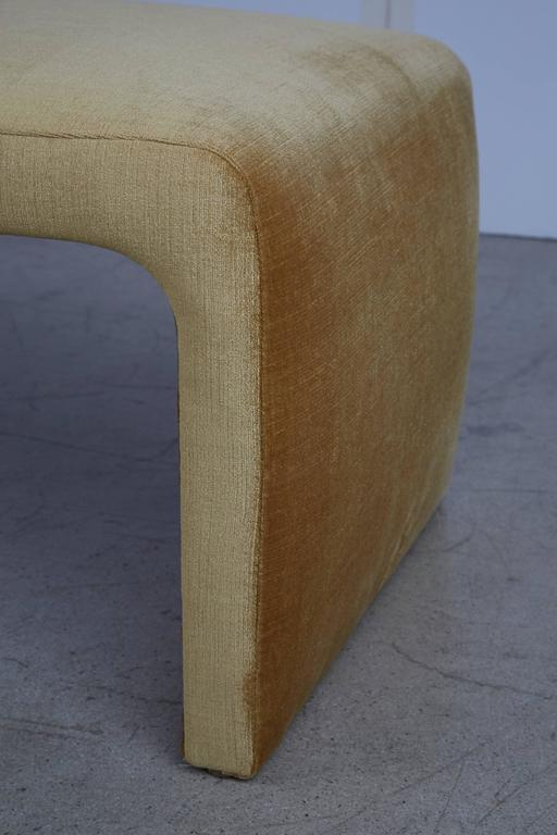 Modern Waterfall Benches Newly Upholstered In Schumacher