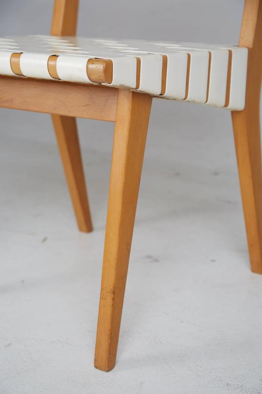Jens Risom 666 Wsp Webbed Vinyl Chairs For Knoll Set Of