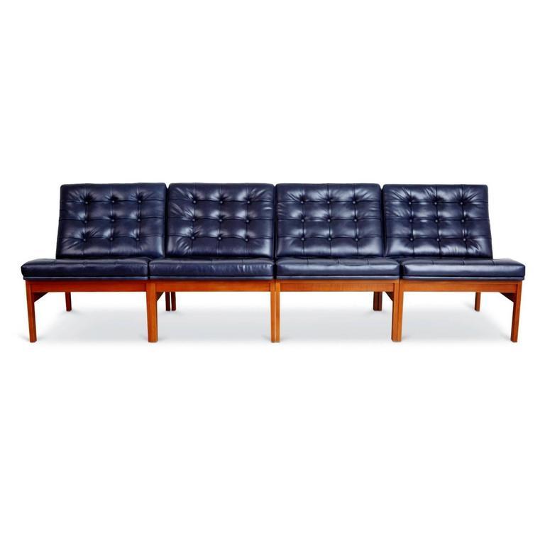 Mid-20th Century France & Son Moduline Living Room Set by Ole Gjerløv-Knudsen & Torben Lind For Sale