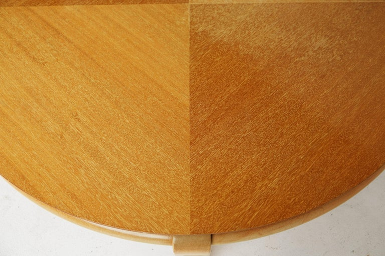 Bleached Paul Laszlo for Brown Saltman Round Coffee Table, Model 145, circa 1950 For Sale