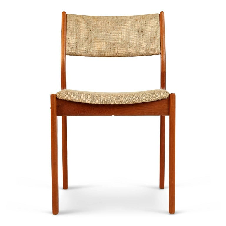 d scan teak danish modern dining chairs set of four at 1stdibs