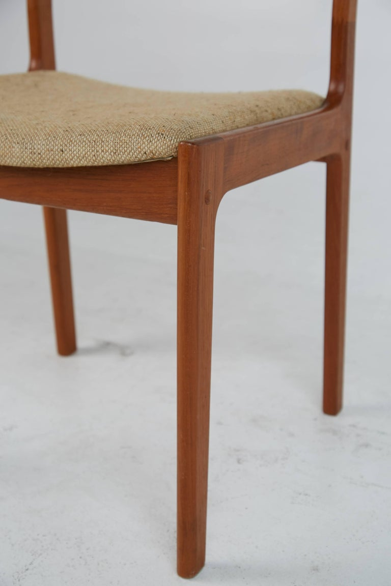 D Scan Teak Danish Modern Dining Chairs Set Of Four At 1stdibs