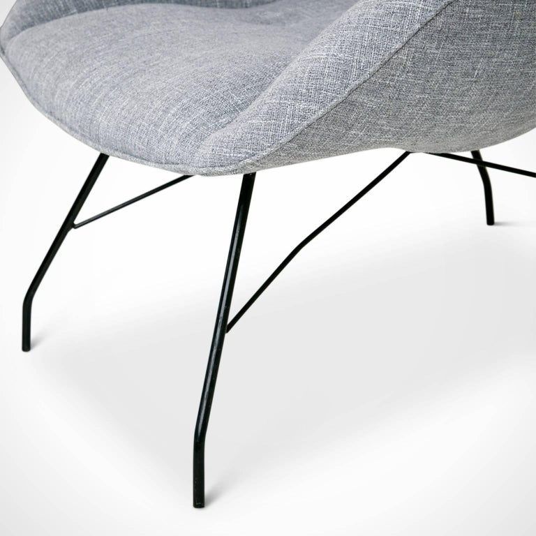 Fabric Martin Eisler and Carlo Hauner Scoop Chairs for Forma, Brazil, circa 1960