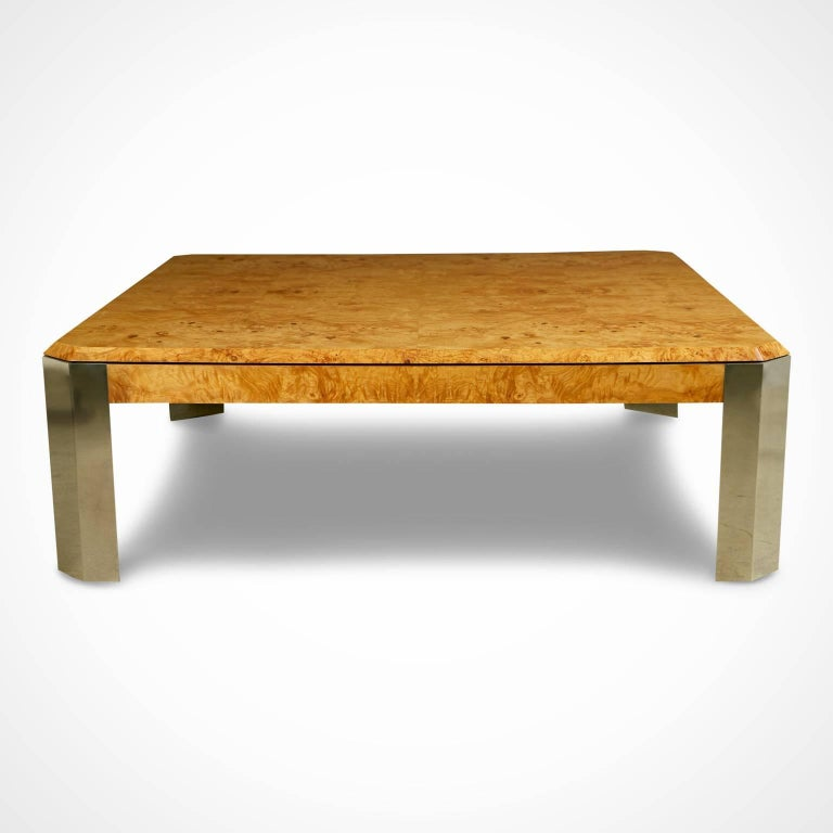 Leon Rosen For The Pace Collection Burled Wood Large Coffee Table For Sale At 1stdibs