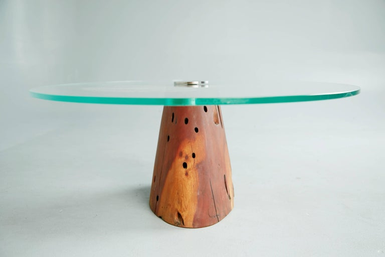 Contemporary Custom Salvaged Jatoba Wood Coffee Table by Tunico T, Brazil For Sale