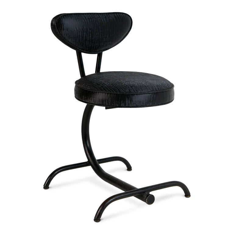Cantilever Sharkskin Petite Chairs Or Stools Five Circa