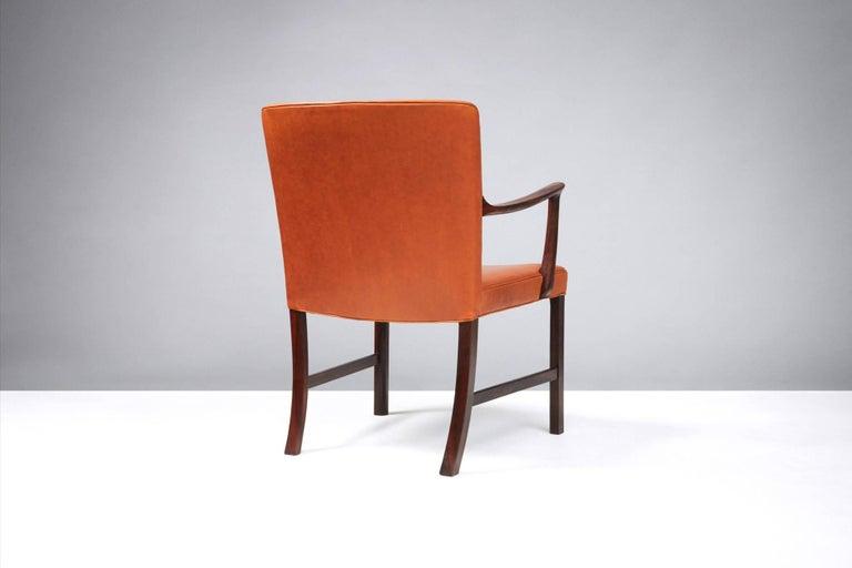 Scandinavian Modern Ole Wanscher Brazilian Rosewood Armchair, circa 1950s For Sale
