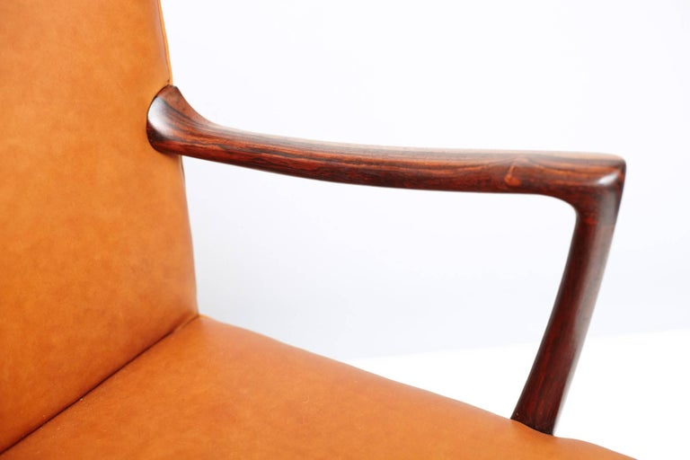 Ole Wanscher Brazilian Rosewood Armchair, circa 1950s In Excellent Condition For Sale In London, GB