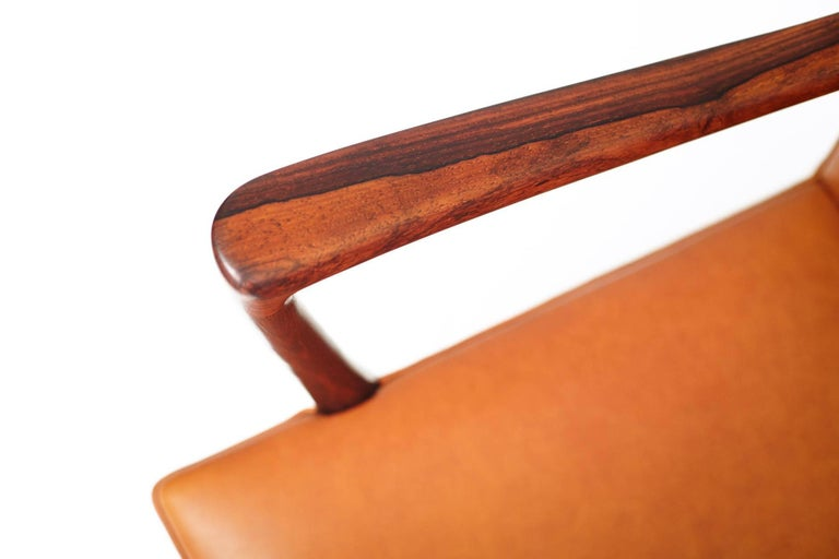 Mid-20th Century Ole Wanscher Brazilian Rosewood Armchair, circa 1950s For Sale