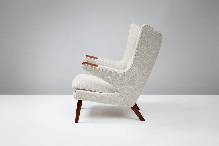 Scandinavian Modern Hans Wegner AP-19 Papa Bear Chair, Teak For Sale