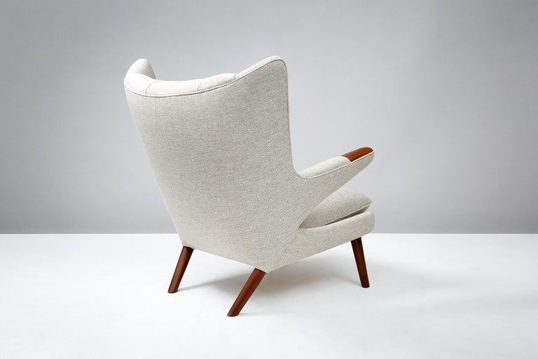Danish Hans Wegner AP-19 Papa Bear Chair, Teak For Sale
