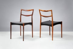 Johannes Andersen Rosewood Dining Chairs, circa 1960