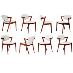 Kai Kristiansen Model 42 Dining Chairs, Rosewood