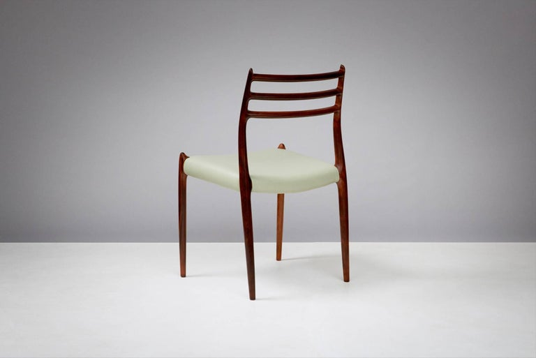 Scandinavian Modern Niels O. Møller Model 78 Rosewood Dining Chairs, 1962 For Sale