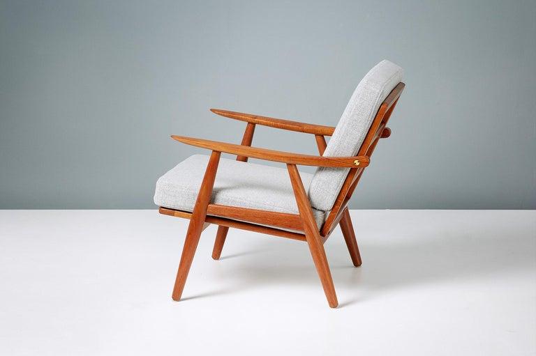 Teak Hans Wegner GE-270 Lounge Chair, 1956 For Sale