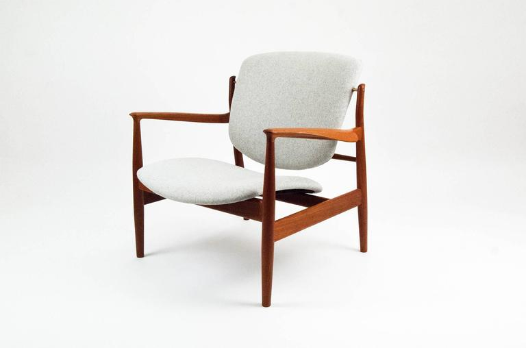 Superbe A Rare Design From Danish Master Finn Juhl, The Most Collectable Of All The  Danish