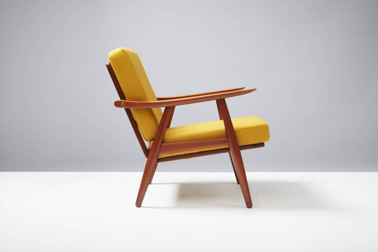 Scandinavian Modern Hans J. Wegner GE-270 Teak Lounge Chair, 1956 For Sale