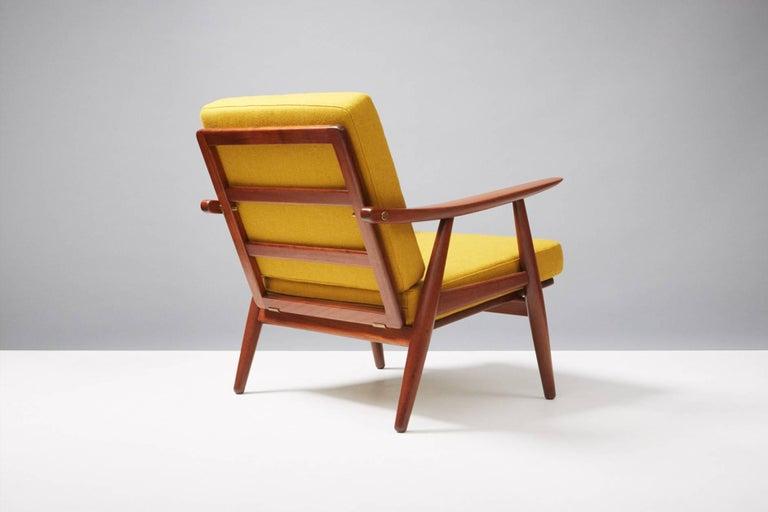 Danish Hans J. Wegner GE-270 Teak Lounge Chair, 1956 For Sale